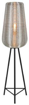 Light & Living Vloerlamp 'Adeta', nikkel, 135cm hoog